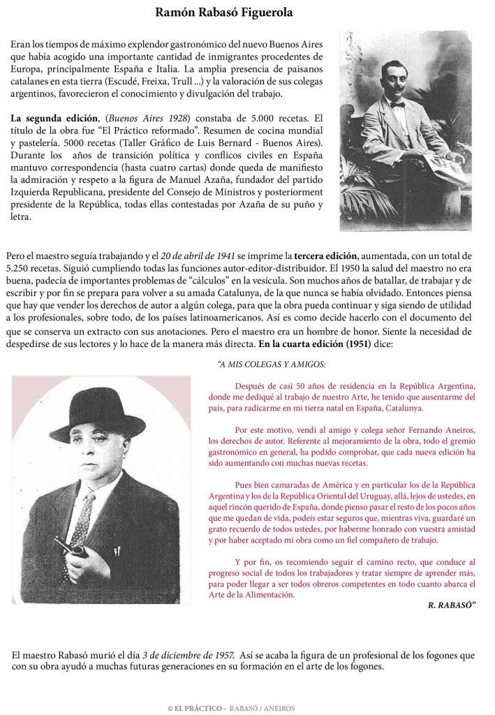 Ramon Rabasó, autor del libro El Práctico de cocina, 6500 recetas