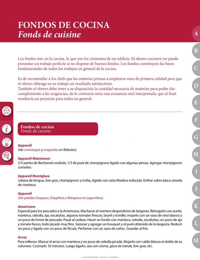 El Práctico de Cocina A - Fondos de cocina y Guarniciones