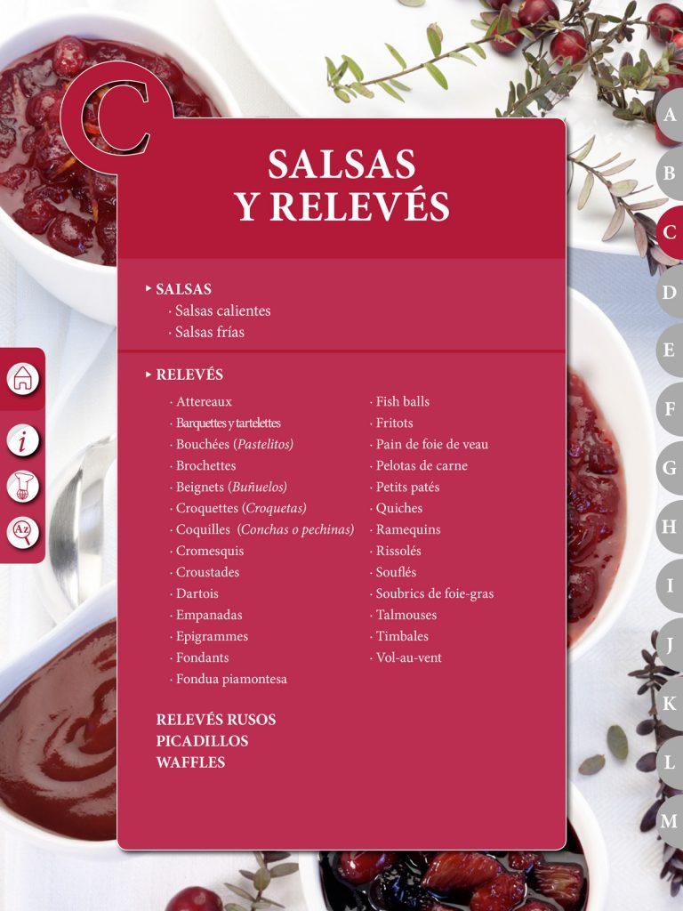 """Capítulo libro de cocina """"El Práctico"""" - Edición Digital - C - Salsas / Relevés"""