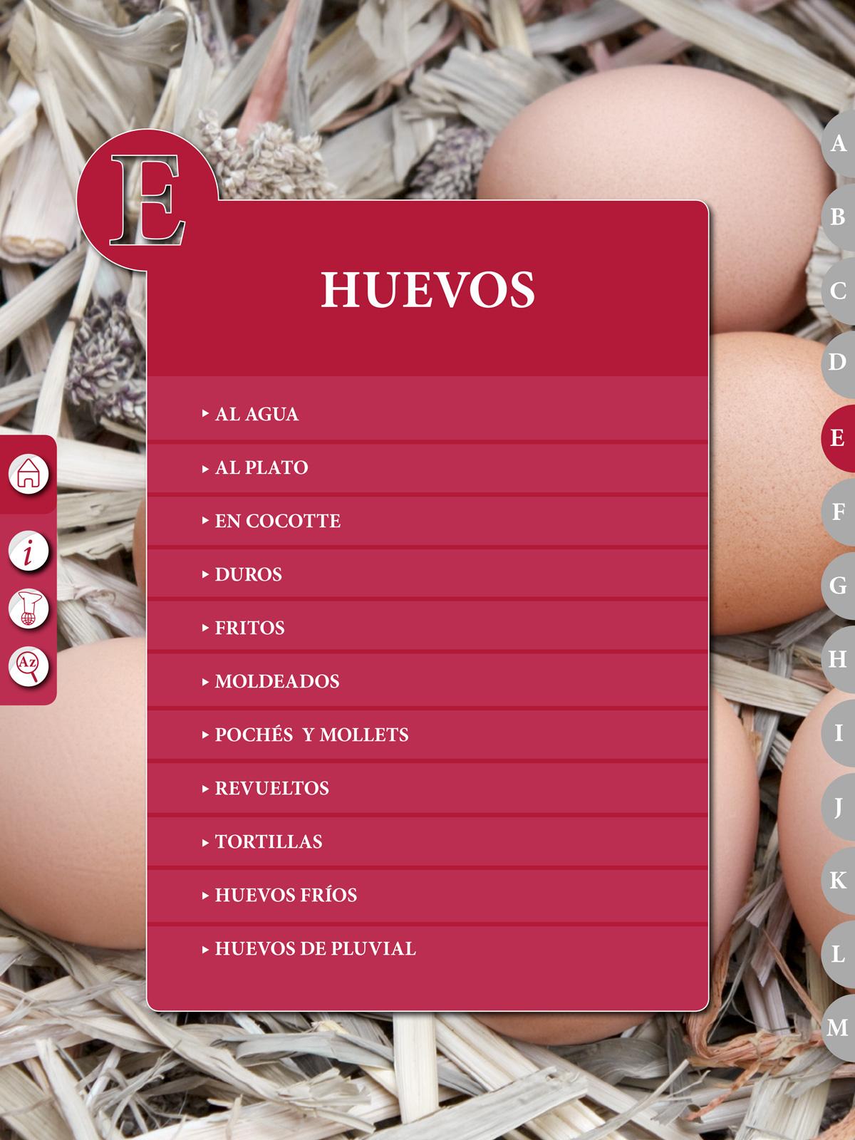 """Recetario """"El Práctico"""", E - Huevos"""