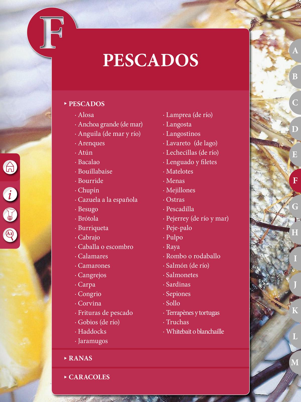 """Recetario """"El Práctico"""", F - Pescados - Edición Digital eBook -"""