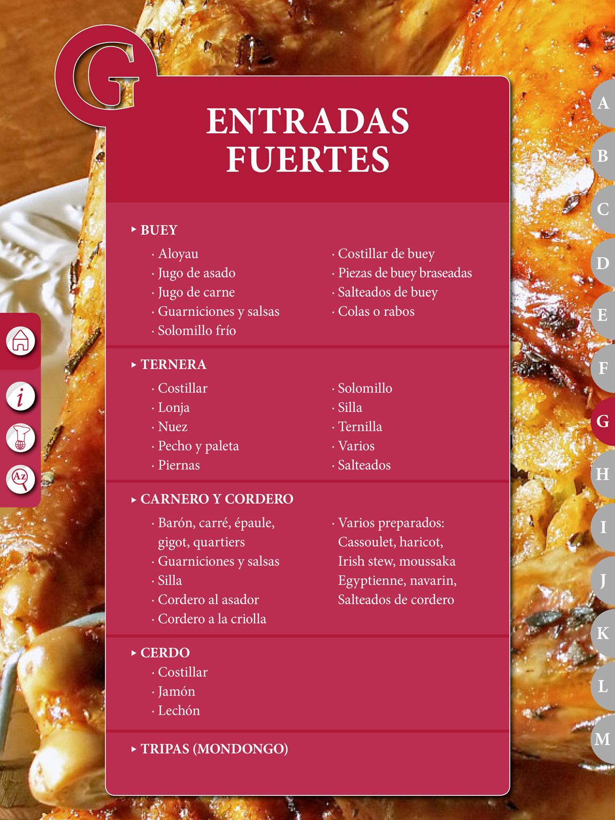 Entradas fuertes recetario el pr ctico de cocina 6500 - El practico de cocina ...