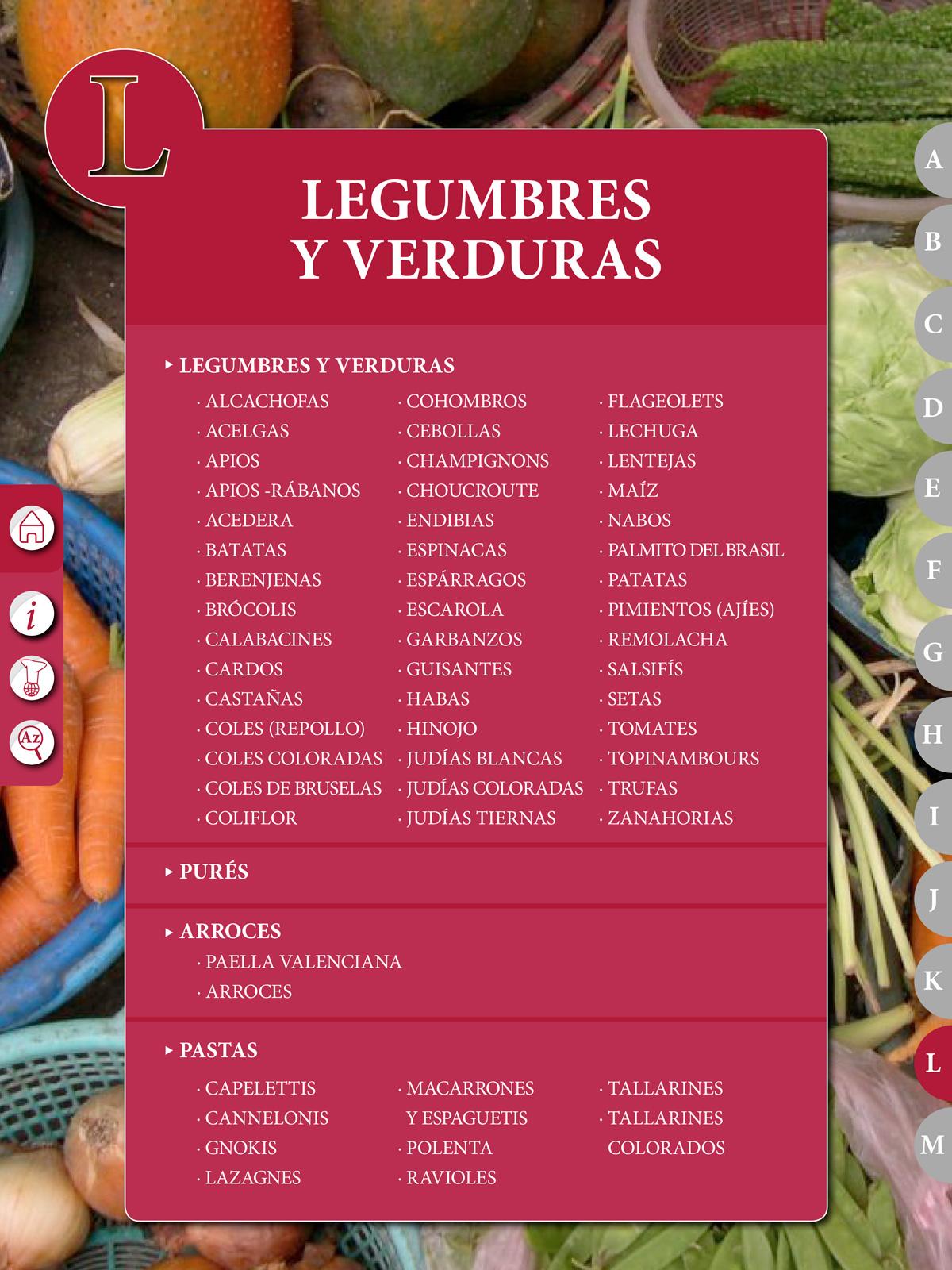 """Recetario """"El Práctico"""", L - Legumbres"""