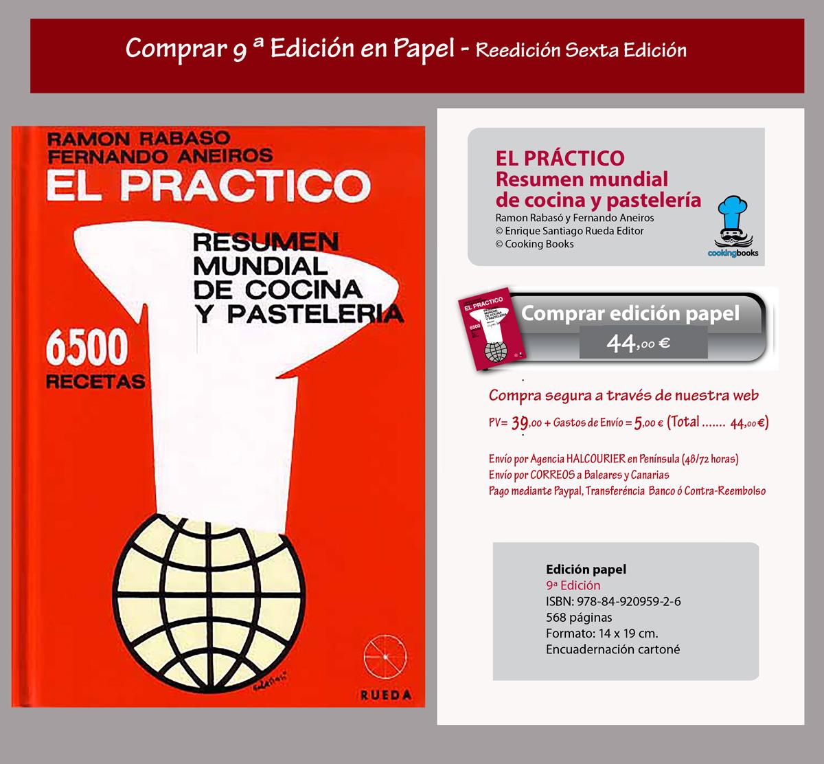 Comprar libro El PRACTICO 9ª- Edición en papel. - Cooking Books / Rueda