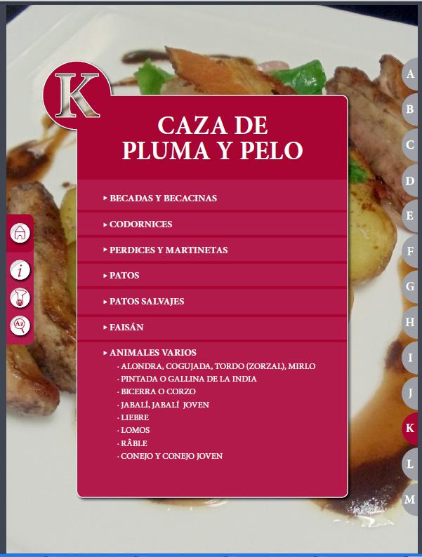 """Capítulo libro de cocina """"El Práctico"""" - Edición Digital - K - Caza de pluma y pelo"""