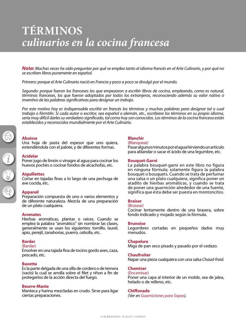 El PRACTICO 1.0 - Edición Digital eBook - Informaciones - Términos culinarios